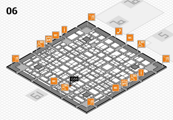 MEDICA 2016 hall map (Hall 6): stand G56