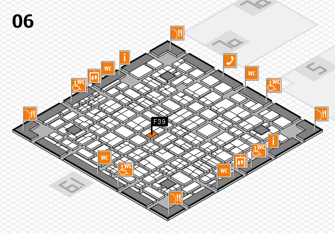 MEDICA 2016 hall map (Hall 6): stand F39