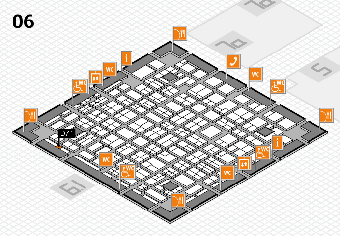 MEDICA 2016 hall map (Hall 6): stand D71