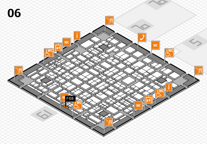 MEDICA 2016 hall map (Hall 6): stand F68