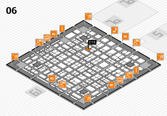 MEDICA 2016 hall map (Hall 6): stand D18