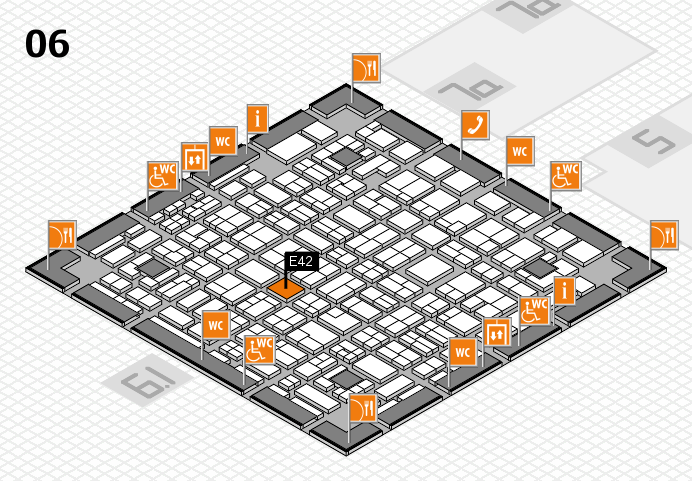 MEDICA 2016 hall map (Hall 6): stand E42