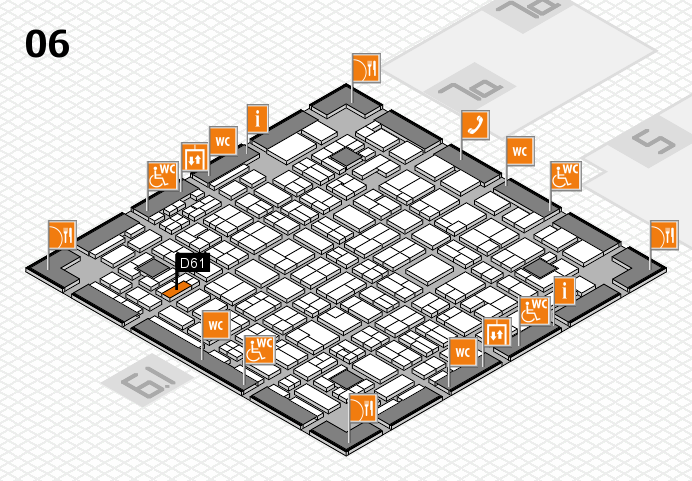 MEDICA 2016 hall map (Hall 6): stand D61