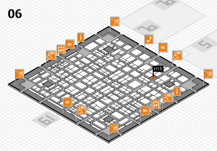 MEDICA 2016 hall map (Hall 6): stand H15