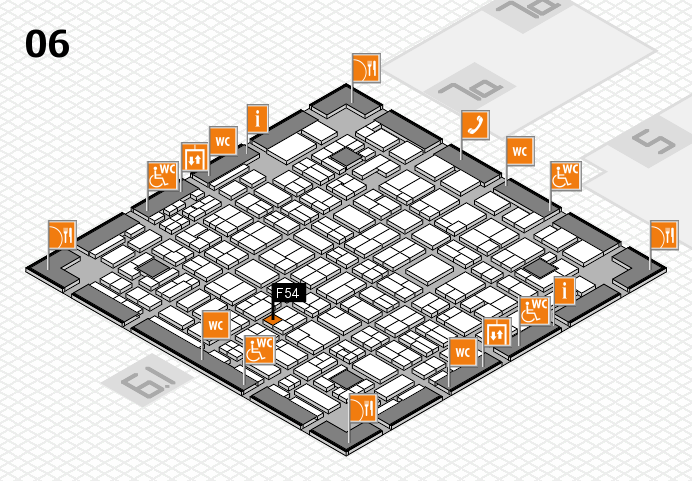 MEDICA 2016 hall map (Hall 6): stand F54