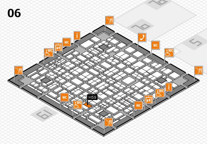 MEDICA 2016 hall map (Hall 6): stand H59