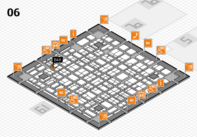 MEDICA 2016 hall map (Hall 6): stand B46