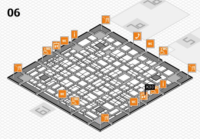 MEDICA 2016 hall map (Hall 6): stand K30