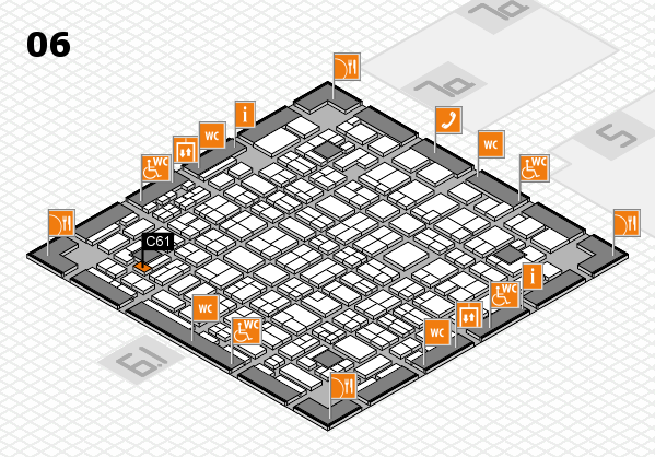 MEDICA 2016 hall map (Hall 6): stand C61