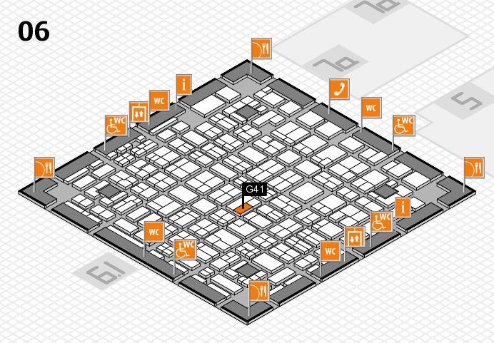MEDICA 2016 hall map (Hall 6): stand G41