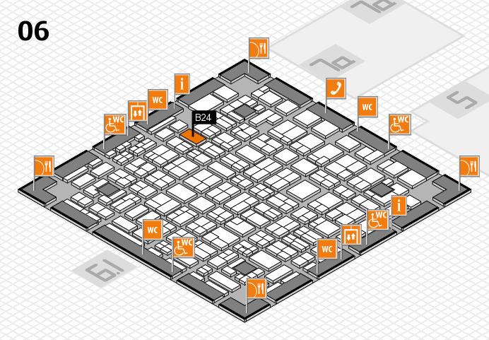 MEDICA 2016 hall map (Hall 6): stand B24