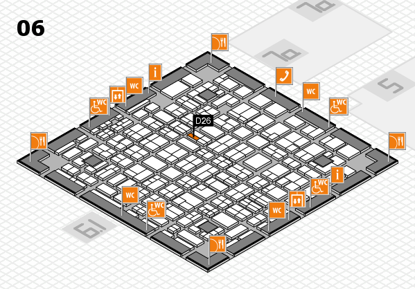 MEDICA 2016 hall map (Hall 6): stand D26