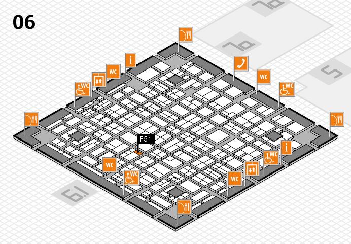 MEDICA 2016 hall map (Hall 6): stand F51