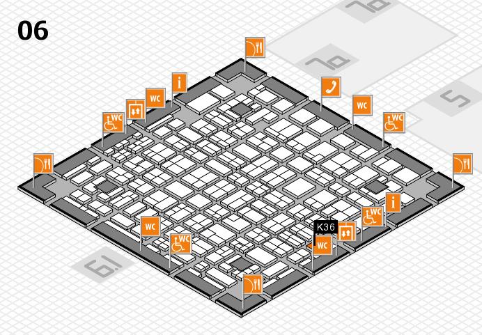 MEDICA 2016 hall map (Hall 6): stand K36