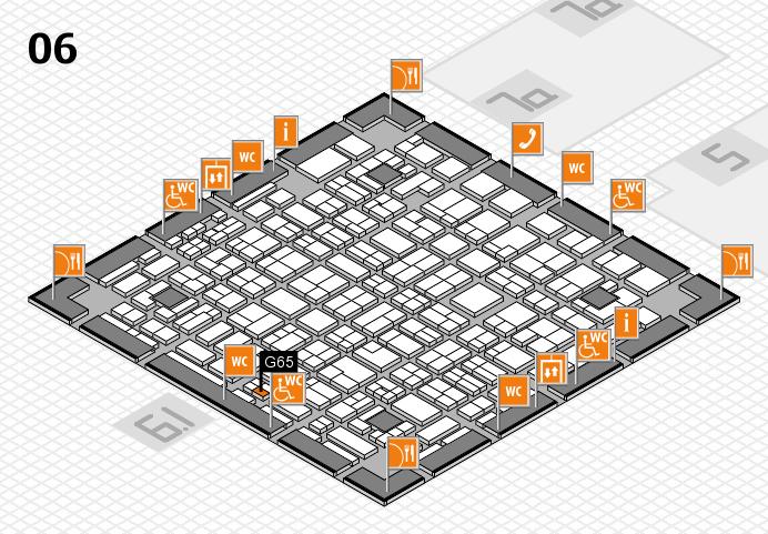 MEDICA 2016 hall map (Hall 6): stand G65