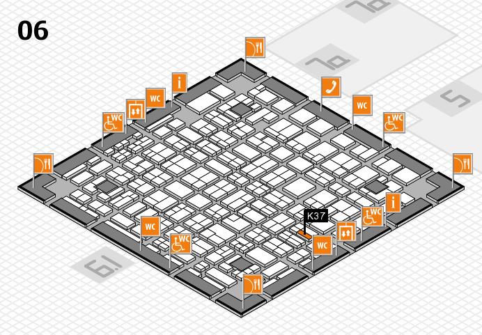 MEDICA 2016 hall map (Hall 6): stand K37