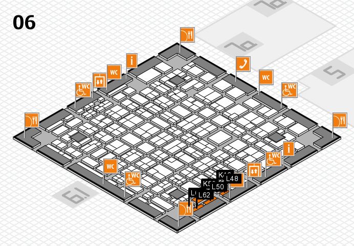 MEDICA 2016 hall map (Hall 6): stand K46, stand L62