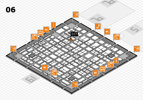 MEDICA 2016 hall map (Hall 6): stand D17