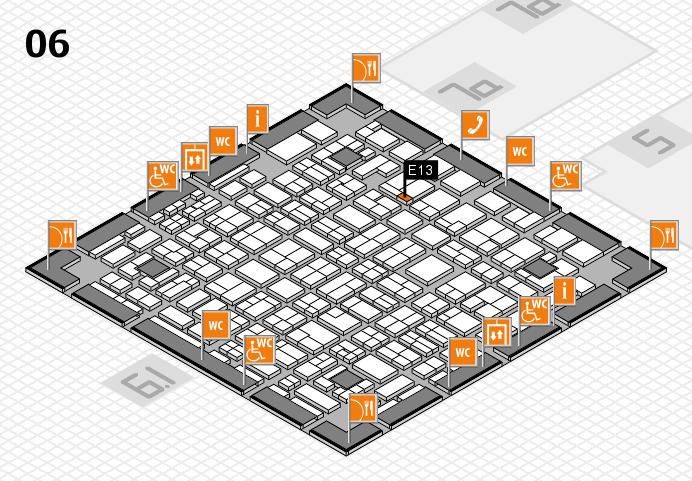 MEDICA 2016 hall map (Hall 6): stand E13