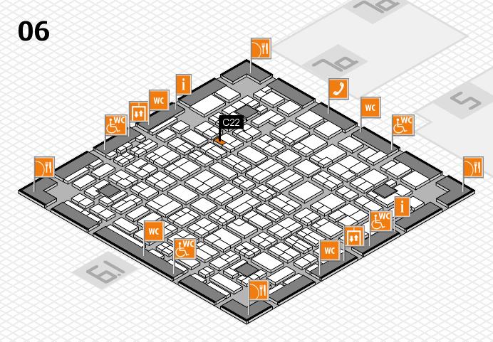 MEDICA 2016 hall map (Hall 6): stand C22