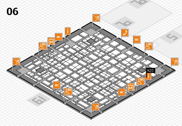 MEDICA 2016 hall map (Hall 6): stand K20
