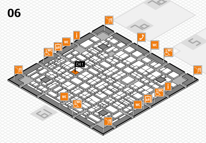 MEDICA 2016 hall map (Hall 6): stand D41