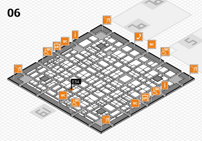 MEDICA 2016 hall map (Hall 6): stand E54