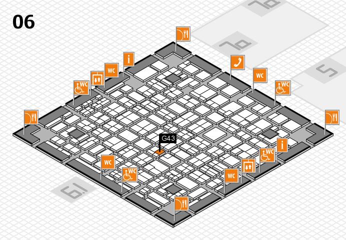 MEDICA 2016 hall map (Hall 6): stand G43