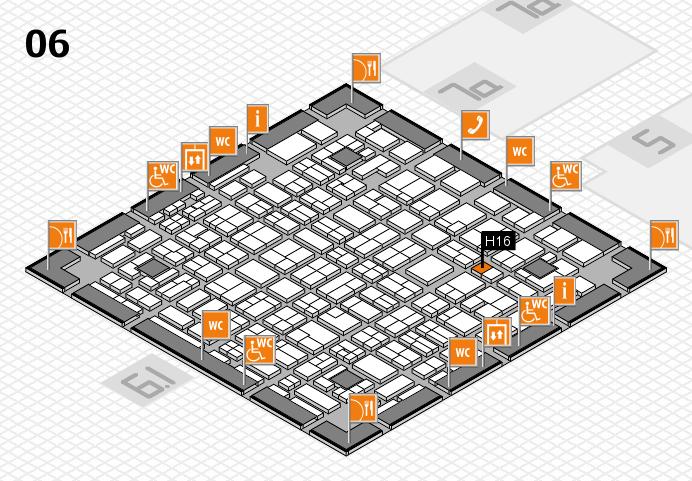 MEDICA 2016 hall map (Hall 6): stand H16