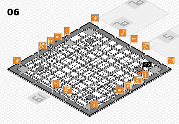 MEDICA 2016 hall map (Hall 6): stand K15