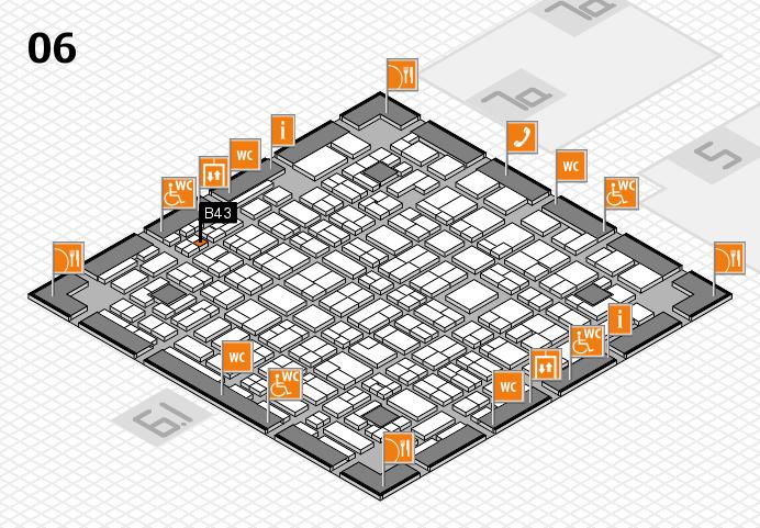 MEDICA 2016 hall map (Hall 6): stand B43