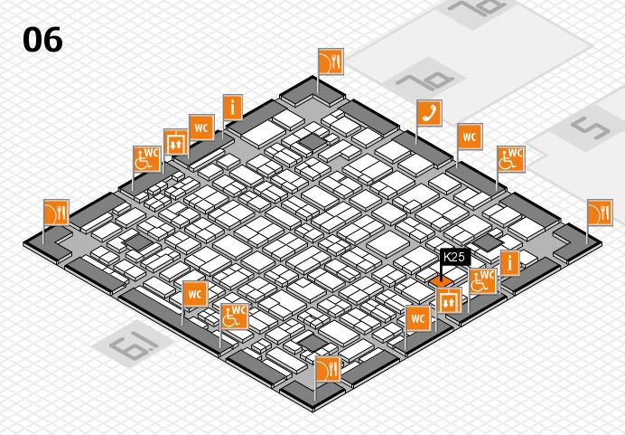 MEDICA 2016 hall map (Hall 6): stand K25