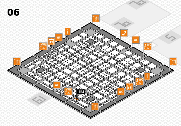 MEDICA 2016 hall map (Hall 6): stand H64