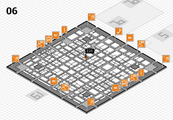 MEDICA 2016 hall map (Hall 6): stand E25