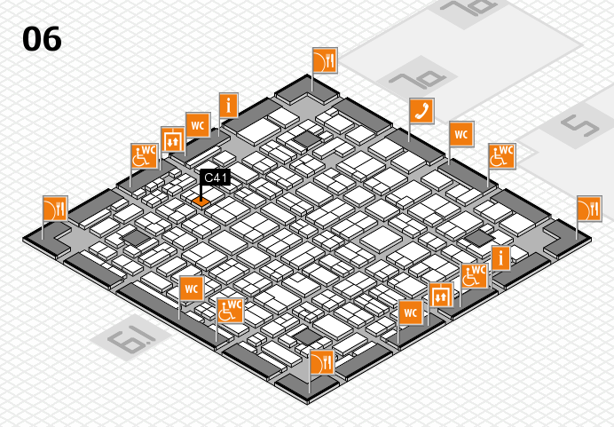 MEDICA 2016 hall map (Hall 6): stand C41