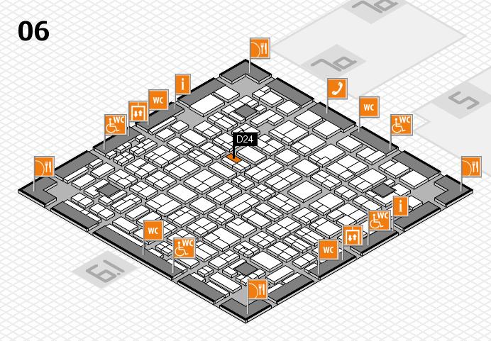 MEDICA 2016 hall map (Hall 6): stand D24