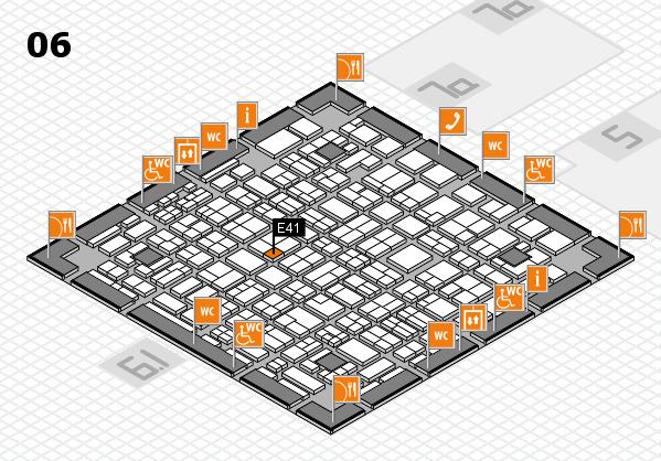 MEDICA 2016 hall map (Hall 6): stand E41