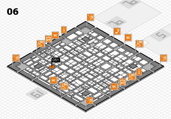 MEDICA 2016 hall map (Hall 6): stand D51