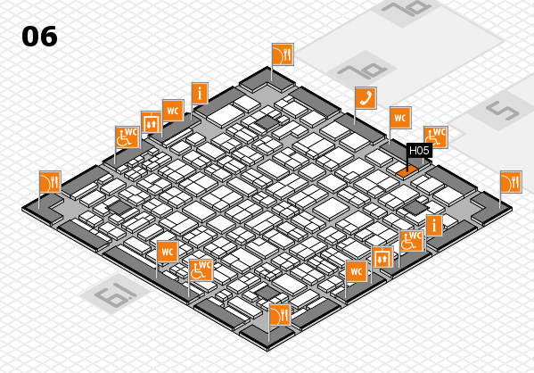 MEDICA 2016 hall map (Hall 6): stand H05