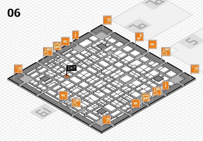 MEDICA 2016 hall map (Hall 6): stand D47