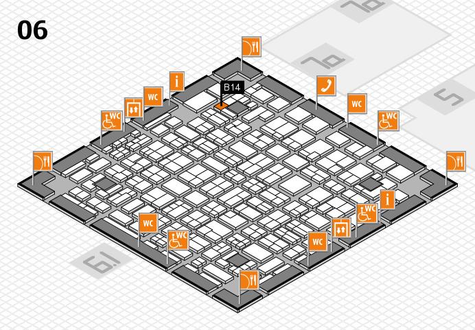 MEDICA 2016 hall map (Hall 6): stand B14