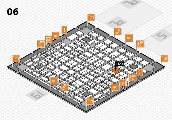 MEDICA 2016 hall map (Hall 6): stand H20