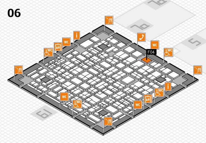 MEDICA 2016 hall map (Hall 6): stand F04