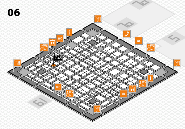 MEDICA 2016 hall map (Hall 6): stand C45