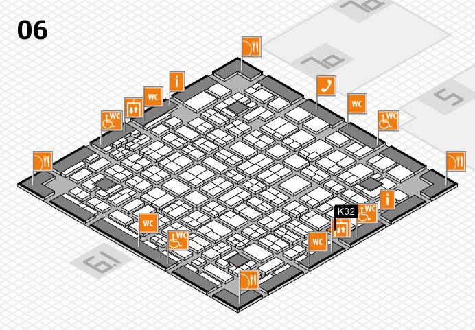 MEDICA 2016 hall map (Hall 6): stand K32