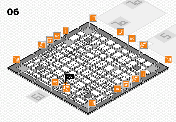 MEDICA 2016 hall map (Hall 6): stand F56