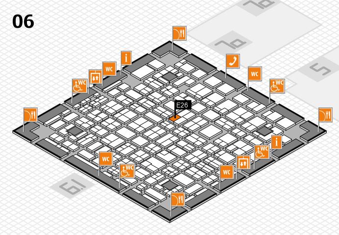 MEDICA 2016 hall map (Hall 6): stand E26