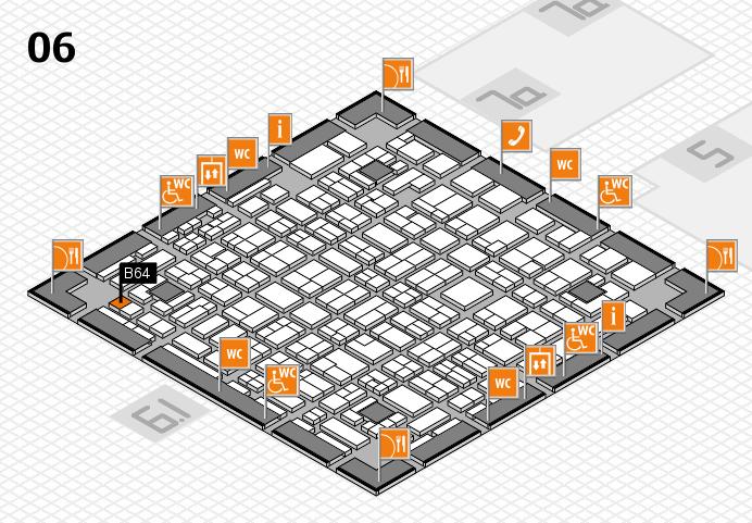 MEDICA 2016 hall map (Hall 6): stand B64