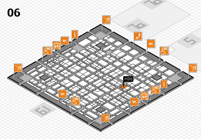 MEDICA 2016 hall map (Hall 6): stand H30