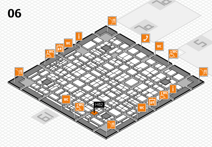 MEDICA 2016 hall map (Hall 6): stand H62